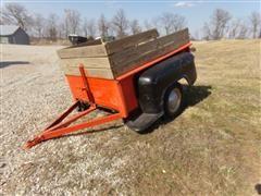 Homemade Pickup Bed Yard Trailer