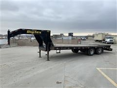 2012 Big Tex 22GN-20+5 T/A 20' Flatbed Gooseneck Trailer
