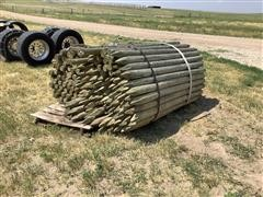 Treated Pointed Fence Posts