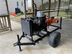 Monarch NH3M9PGP3 Water Pump W/Ford Power Unit On Cart