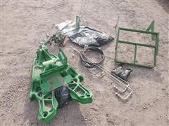 John Deere Loader Mount Brackets, Grill Guard, Single Point Hydraulic Hookup