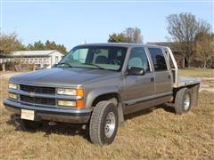 2000 Chevrolet 2500 4x4 Pickup W/Hillsboro Aluminum Flatbed