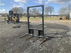 Double Bale Spear Skid Steer Attachment