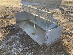 Henke Skid Steer Bucket W/Hydraulic Folding Side Wings