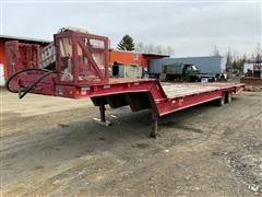 1986 Trail King 1962-1350 T/A Fixed Neck Lowboy W/Hydraulic Tail Section & Winch