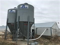 Hog Slat 9' Diameter 15 Ton Bulk Bins
