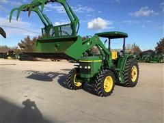 John Deere 6210 MFWD Tractor W/Loader