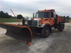 2006 International 7300 S/A Dump Truck W/Snow Plow