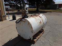 300-Gallon Portable Fuel Tank W/Gasboy Pump, Hose & Nozzle