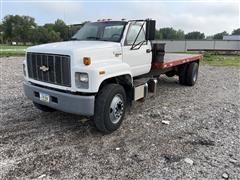 1990 Chevrolet Kodiak Flatbed Truck W/Hoist