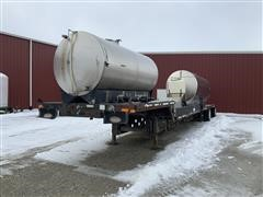 2002 Transcraft DTL 3000 48' Drop Deck T/A Trailer W/Tanks