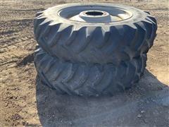 Goodyear Dyna Torque II 18.4-42 Rear Tractor Tires On Steel Rims