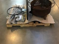 Pioneer Fire Pit, Basketball Goal & License Plate