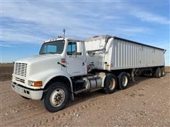 1991 International 8100 T/A Truck Tractor W/1999 Jet Co T/A Grain Trailer