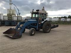 Ford 8000 2WD Tractor w/ Loader & 3-Pt Leveling Plane