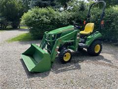 2013 John Deere 1023 E Utility Tractor W/Loader