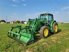 2005 John Deere 7320 MFWD Tractor W/741 Self Leveling Loader