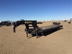 2012 Big Tex 25GN T/A Flatbed Trailer