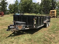 2017 Delta Bumper Dump Hydraulic T/A Trailer