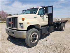 1995 GMC TopKick C7500 S/A Flatbed Truck