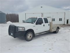 2006 Ford F350 Crew Cab Flatbed Pickup