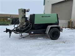 2011 Sullair 185 Portable Air Compressor W/Clemco Sandblaster System