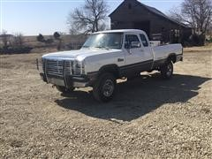 1992 Dodge Power Ram 250 4x4 Extended Cab Pickup