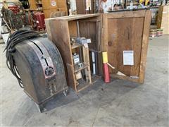 Miller MR C200 A.C. Arc Welder W/Cabinet & Accessories
