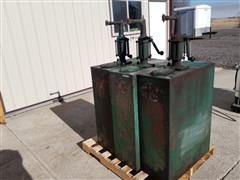 Milwaukee Bulk Oil Tanks W/Manual Pumps