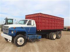 1986 Ford F8000 T/A Grain Truck W/Pony Axle