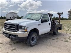 2002 Ford F250 4x4 Flatbed Service Truck