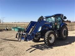 2016 New Holland T6.175 MFWD Tractor W/Loader