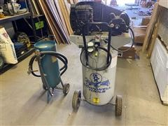 Portable Air Compressor And Sand Blaster