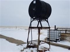 200-Gal Steel Fuel Tank On Stand
