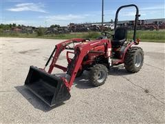 Mahindra Max26 XLT HST 4WD Compact Utility Tractor W/Loader