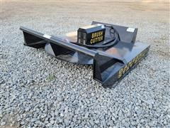 2020 Mower King SSRC 6' Wide Rotary Brush Cutter Skid Steer Attachment