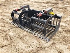 2021 Mid-State 6' Rock/Brush Grapple Skid Steer Attachment
