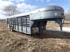 1980 Kiefer 7x24 T/A Cattle Trailer