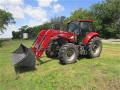 2016 Case IH Farmall 115U MFWD Tractor W/Case IH L745 Loader