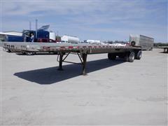 1995 Benson AF489650 48' Aluminum Spread Axle Flatbed Trailer