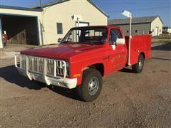 1981 Chevrolet K2500 4x4 Utility Truck