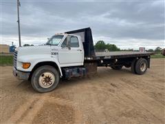 1998 Ford F700 Flatbed Dump Truck