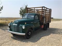 1953 Chevrolet 3800 Flatbed Truck W/Stock Rack