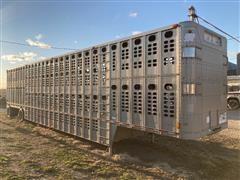 1996 Wilson 53' T/A Livestock Pot Trailer