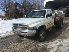 1998 Dodge Ram 3500 4x4 Pickup W/Triple C HydraBed