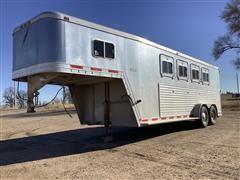 1995 Featherlite 4 Horse Slat T/A Gooseneck Trailer