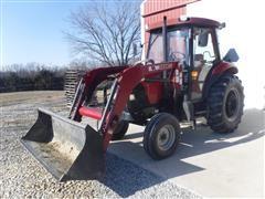 2004 Case IH Maxxima JX55 2WD Tractor W/KMW 1220 Loader