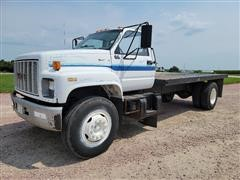 1991 GMC Topkick C7H042 S/A Flatbed Truck