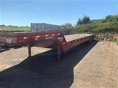 1999 Trail-Eze DHT8048 T/A Fixed Neck Lowboy W/Hydraulic Tail Section