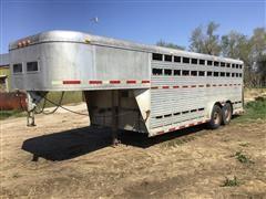 1985 Sooner T/A Aluminum Livestock Trailer